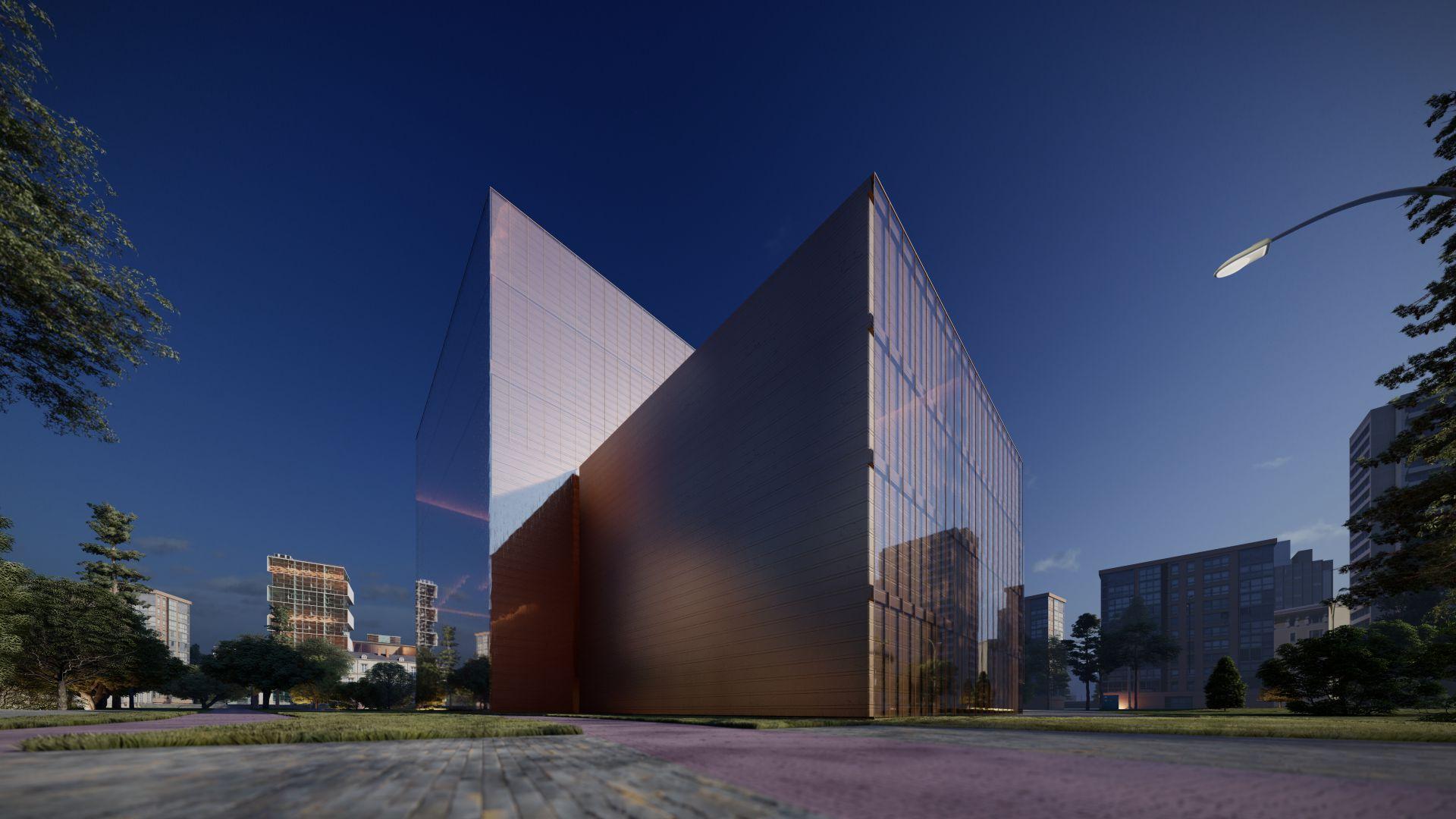 3d visualiseerimine hoone moderne keskplats 3 2 33 Photo