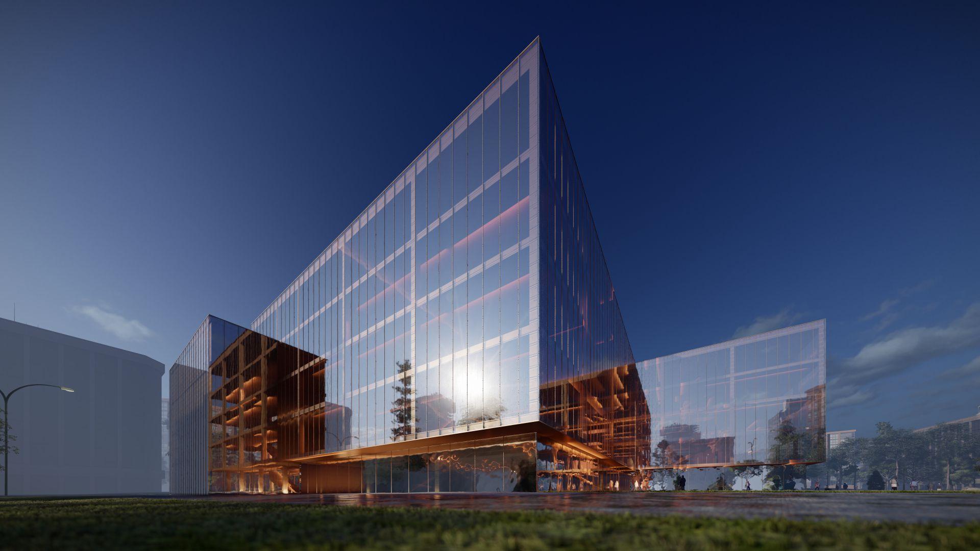 3d visualiseerimine hoone moderne keskplats 3 2 34 Photo