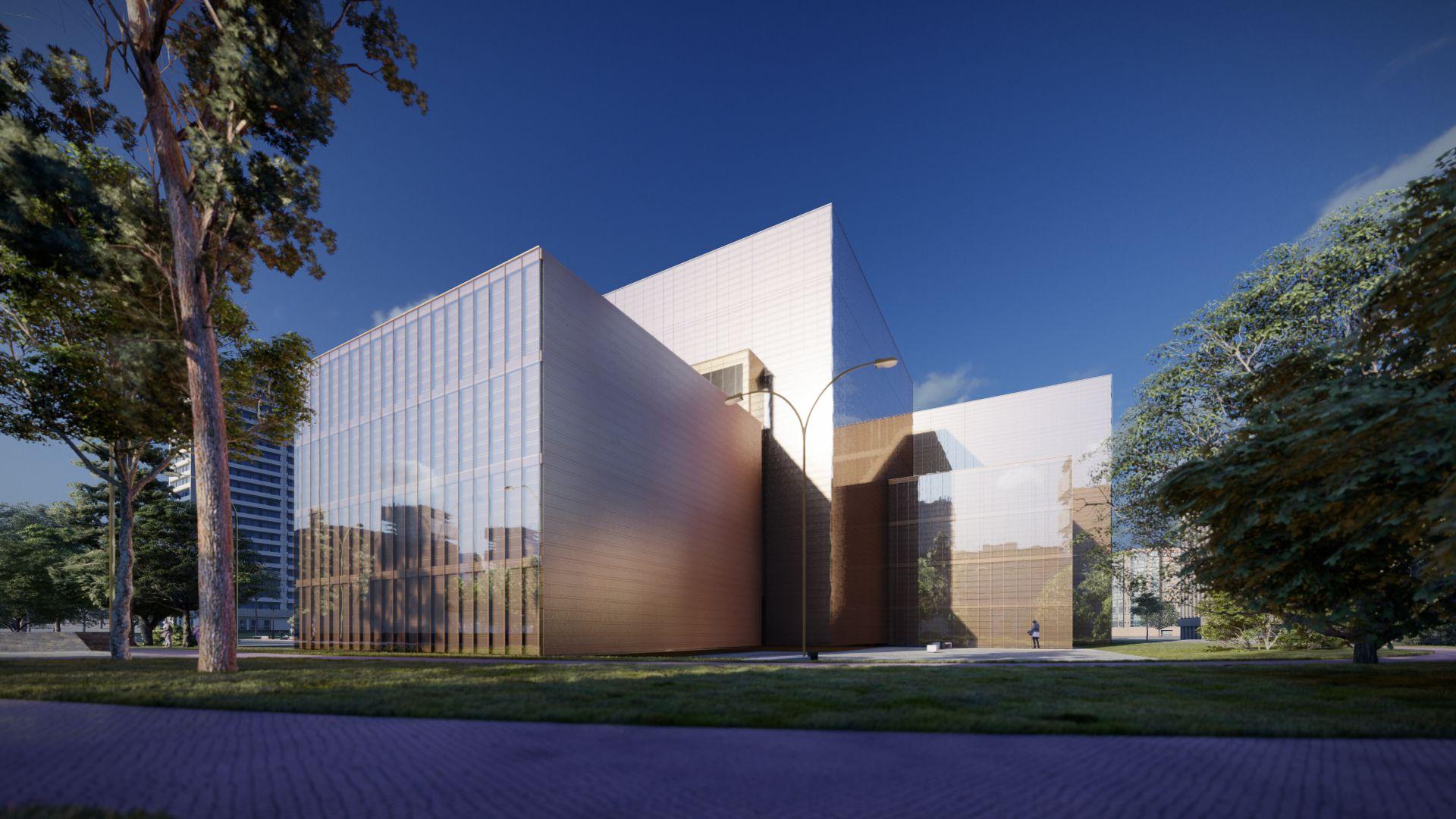 3d visualiseerimine hoone moderne keskplats 3 2 39 Photo