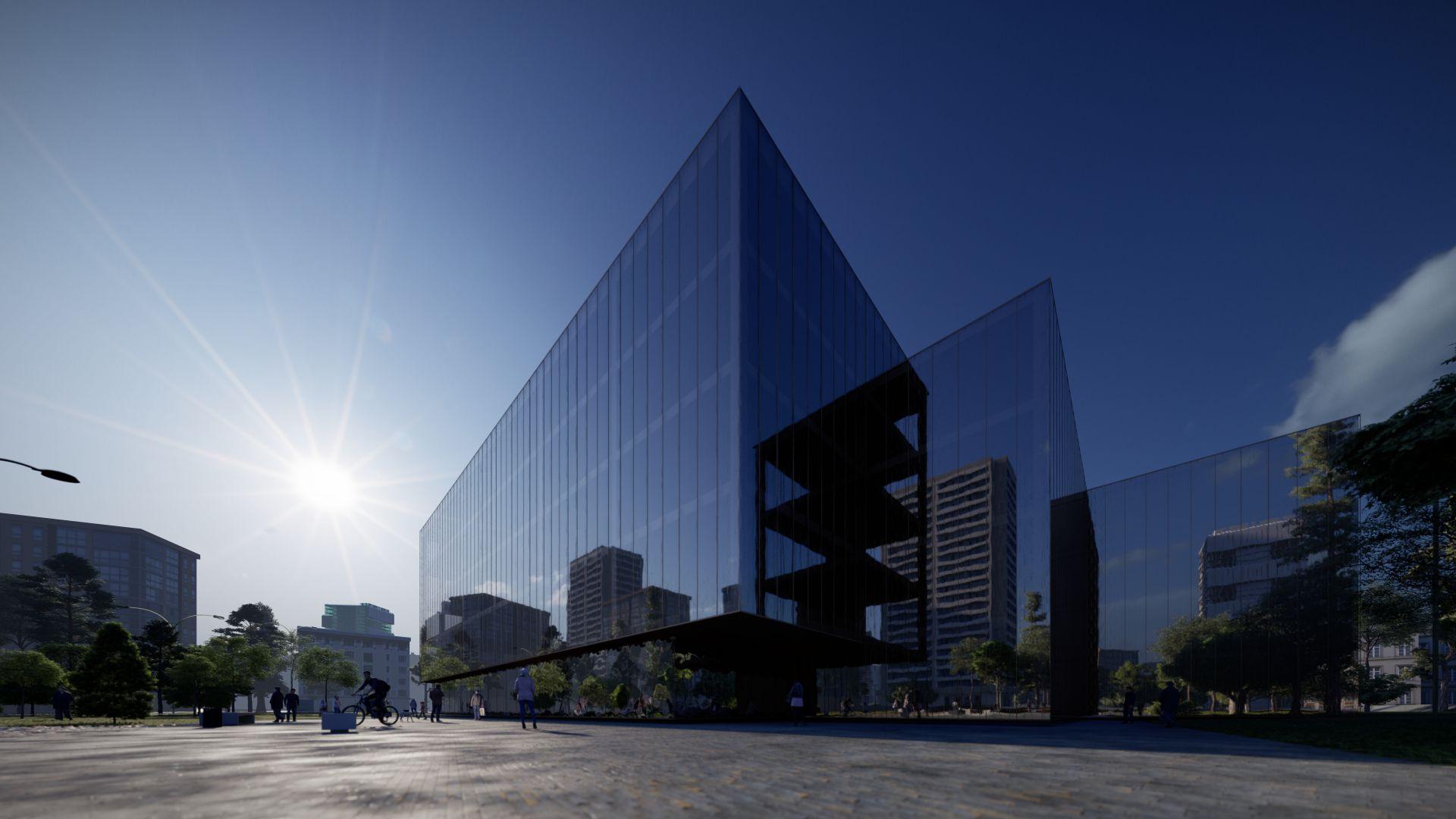 3d visualiseerimine hoone moderne keskplats 3 2 40 Photo