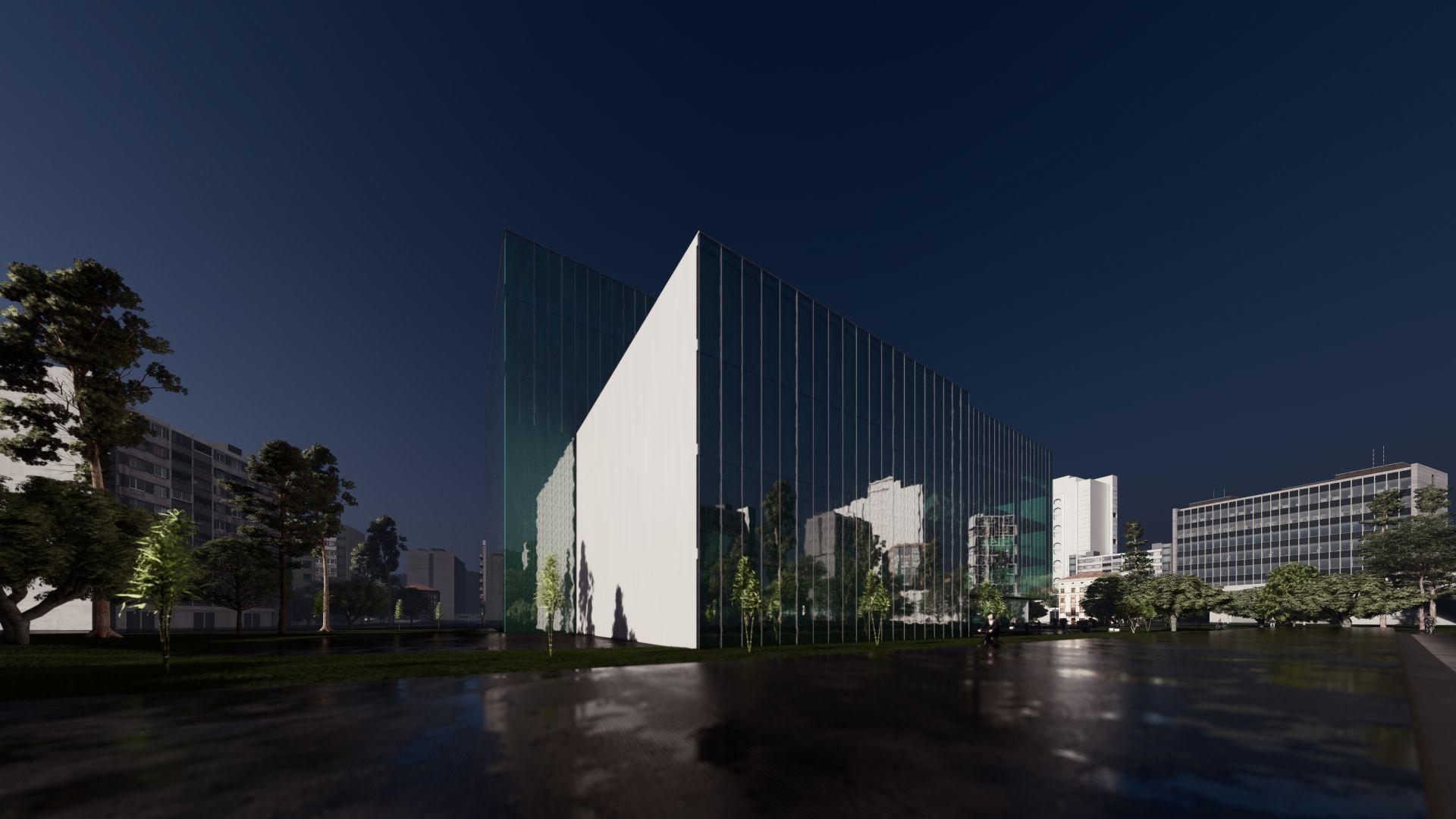 3d visualiseerimine hoone moderne keskplats 6 1 Photo 10