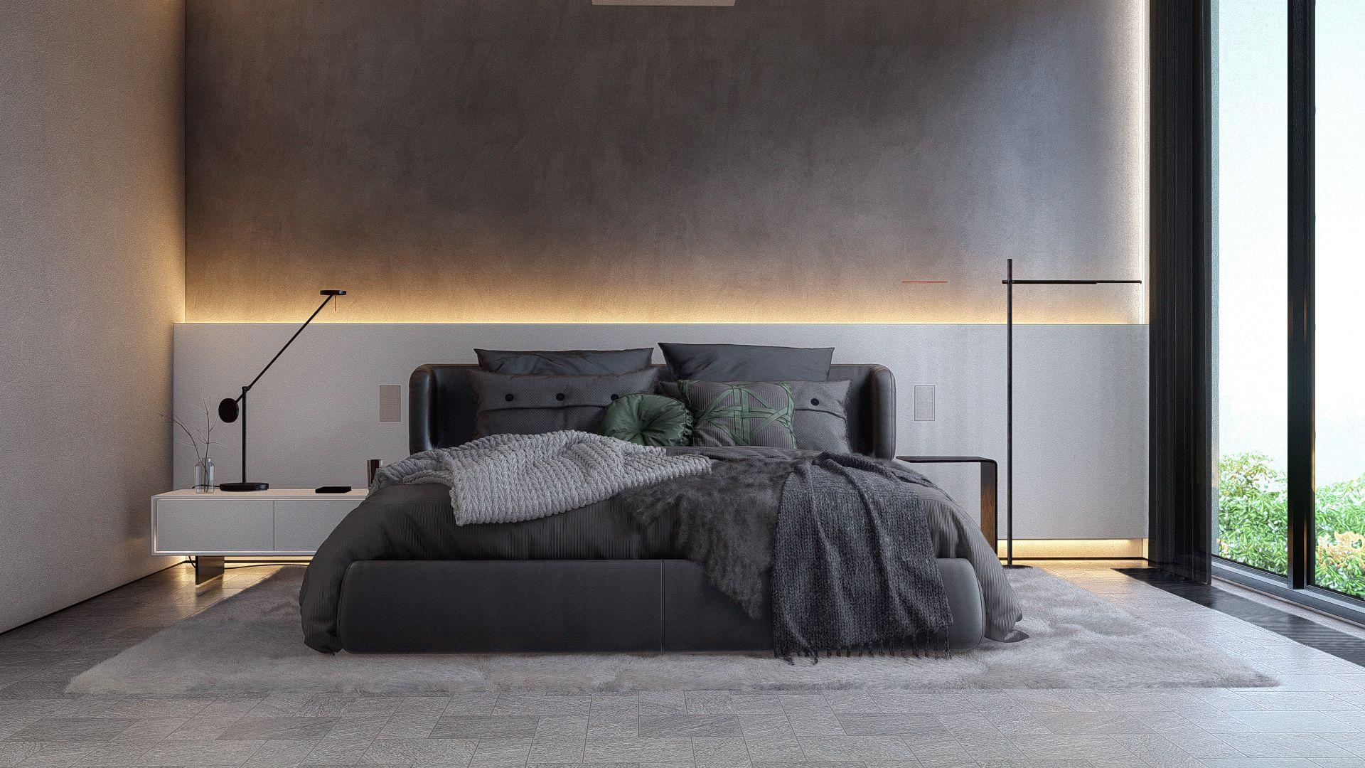 3d visualiseerimine magamistuba moderne minimaalne 1 Photo 6
