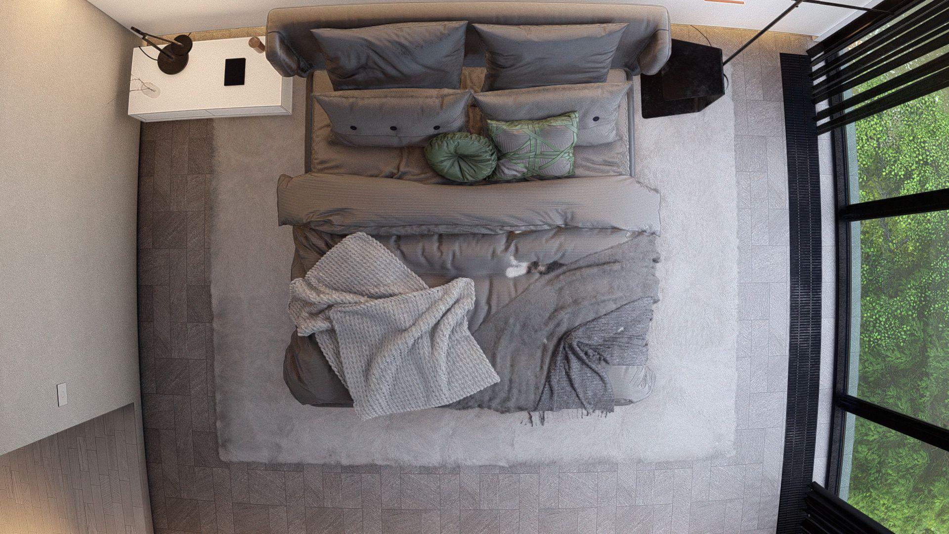 3d visualiseerimine magamistuba moderne minimaalne 2 Photo 3