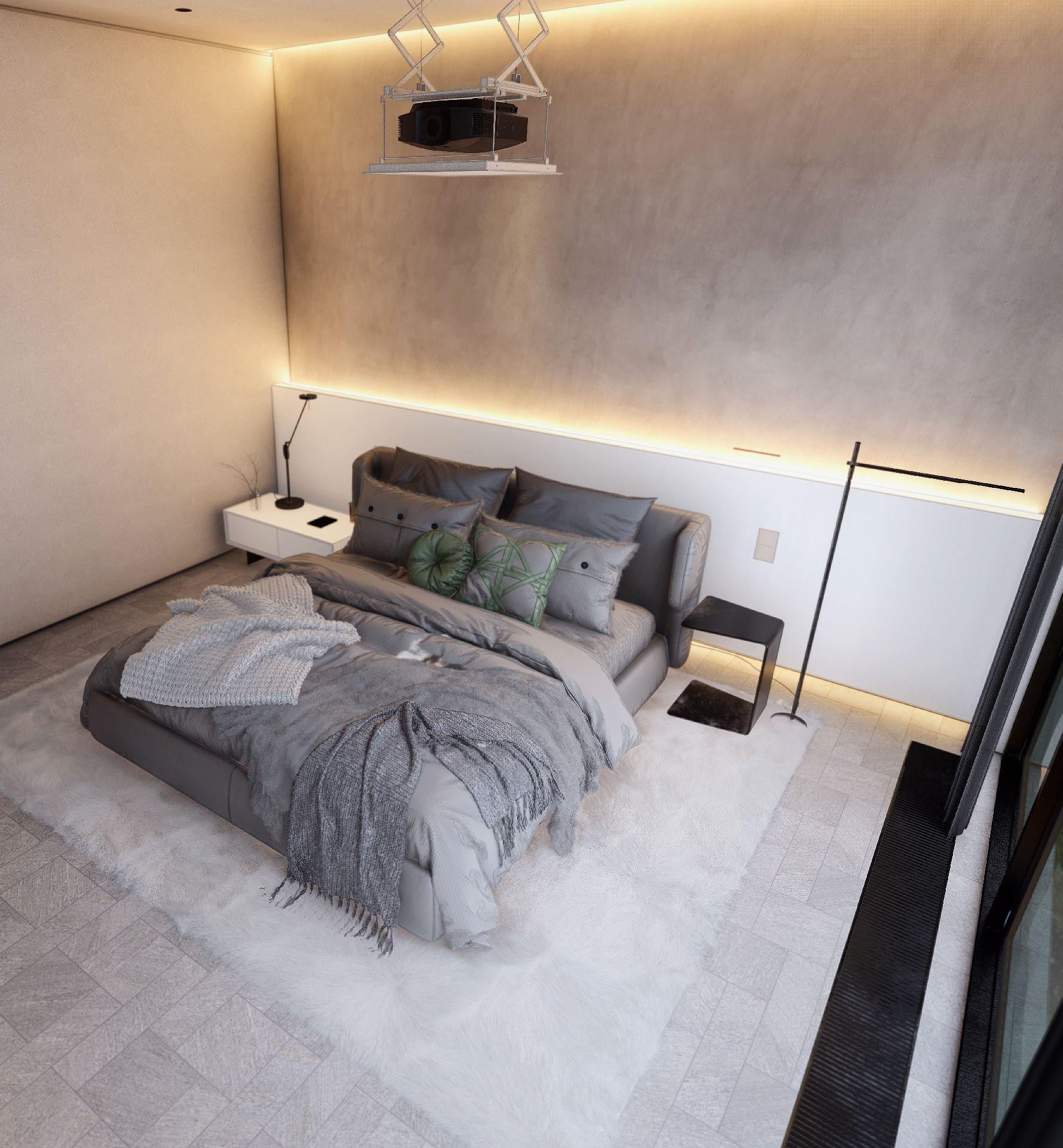 3d visualiseerimine magamistuba moderne minimaalne 3 1 1