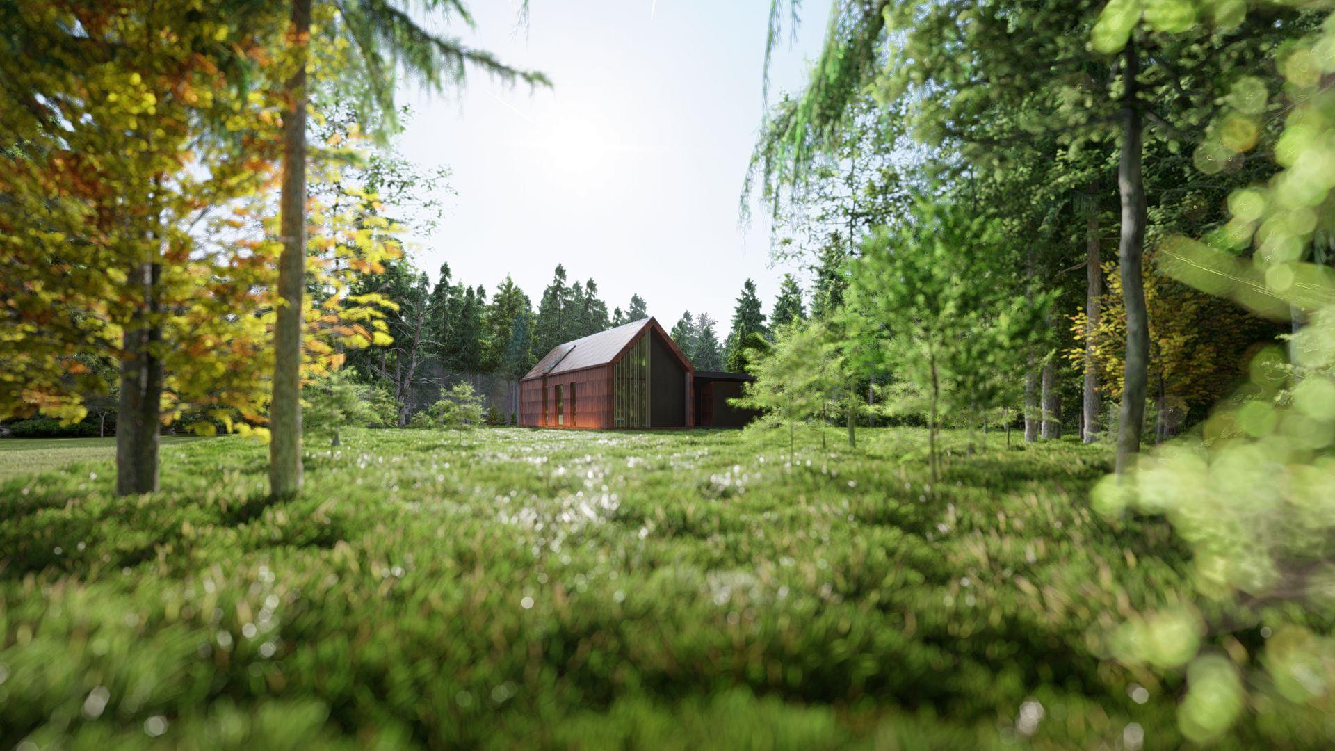 3d visualiseerimine moodulmaja mets kaugelt 1
