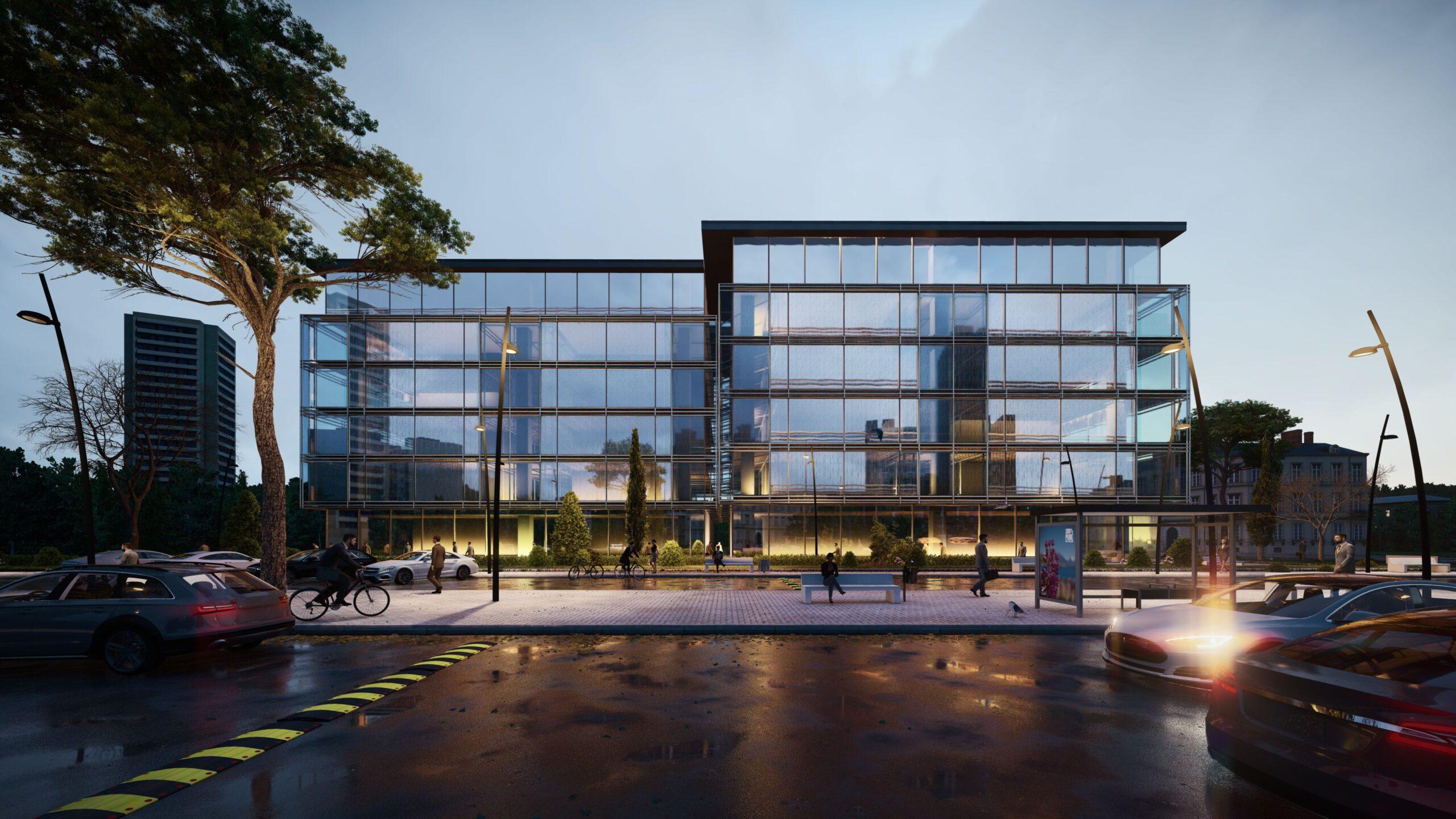 arhitektuurne 3d pilt hoone visualiseerimine 102