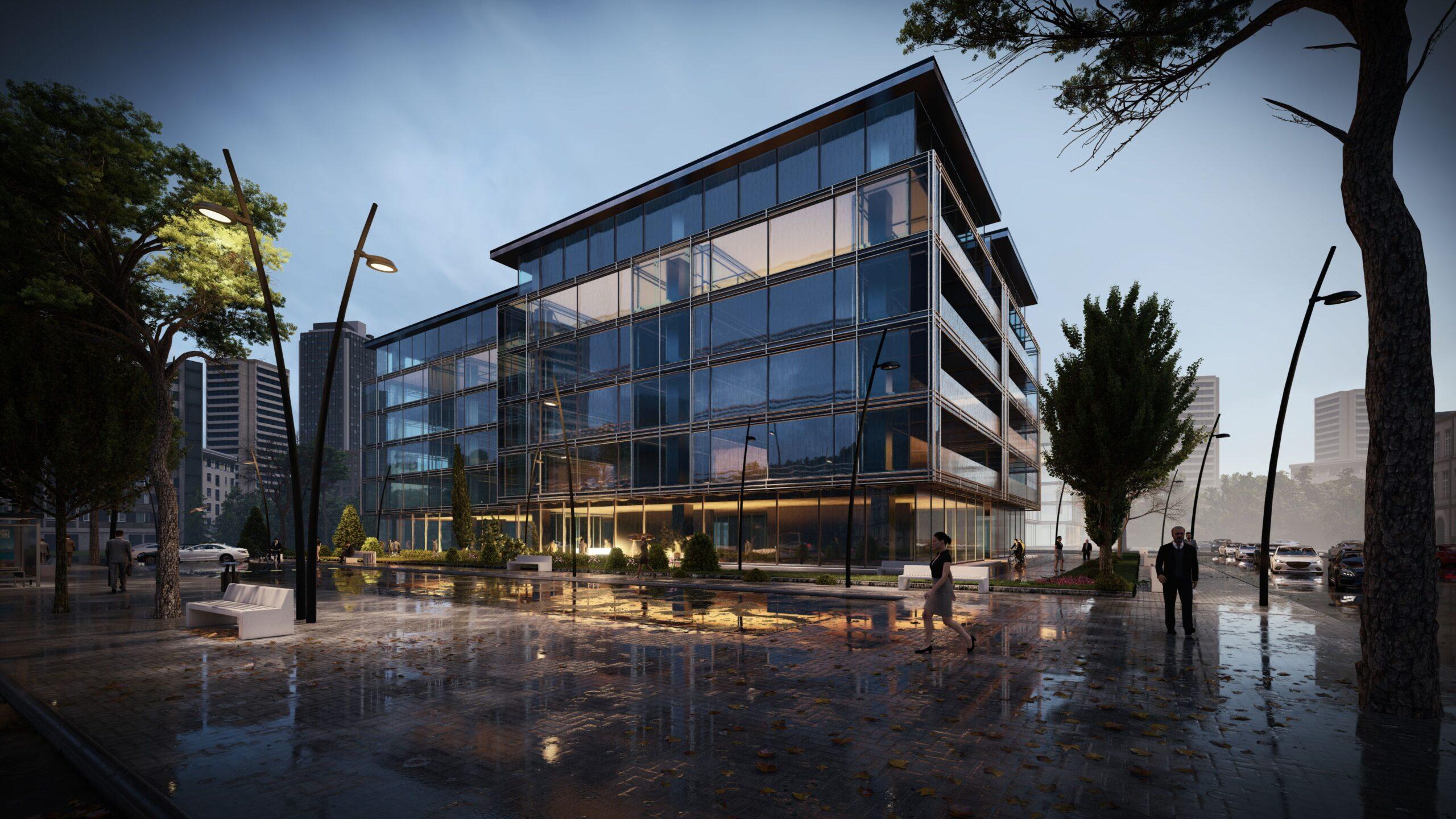 arhitektuurne 3d pilt hoone visualiseerimine 103