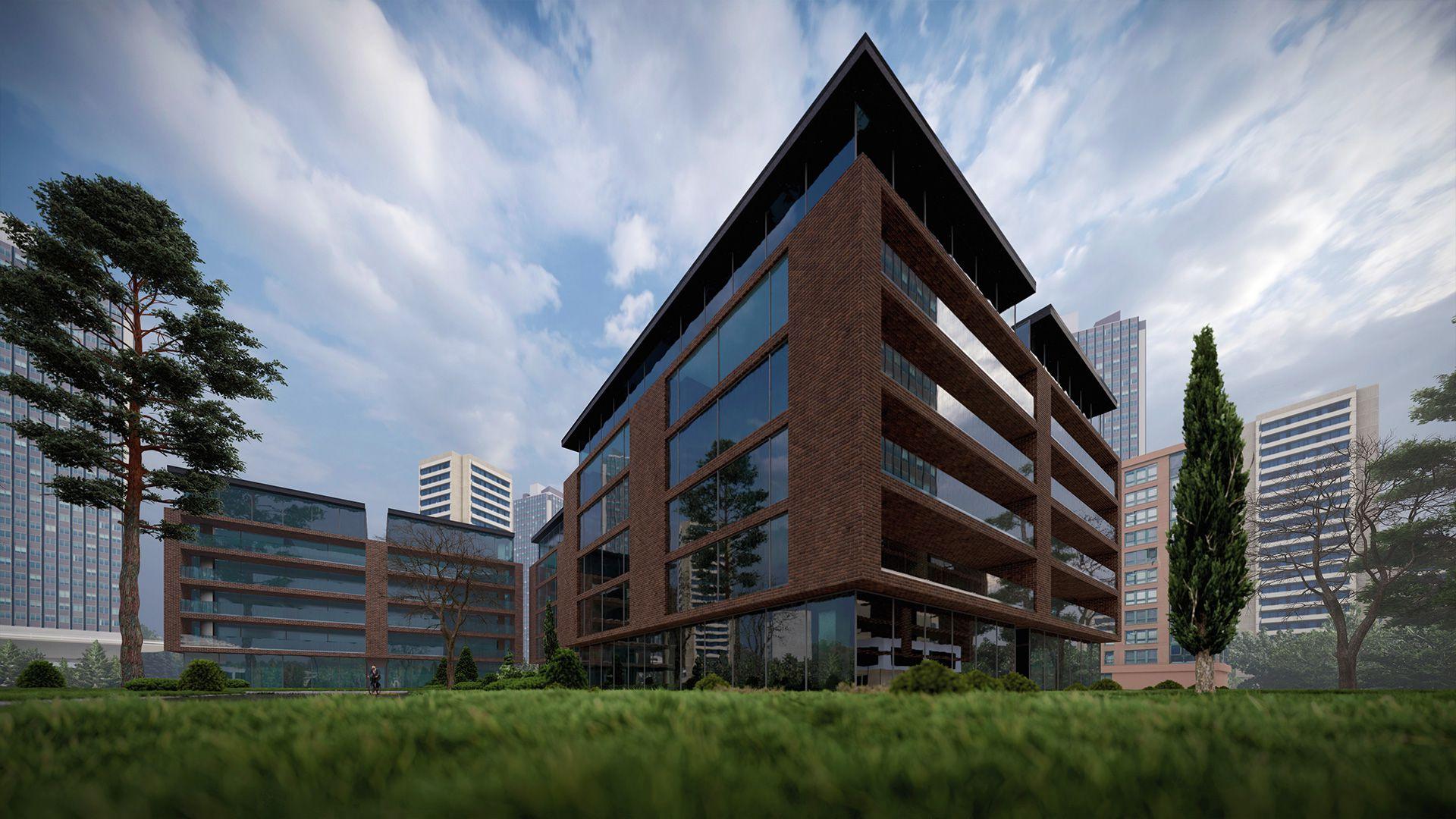 arhitektuurne 3d pilt hoone visualiseerimine 154