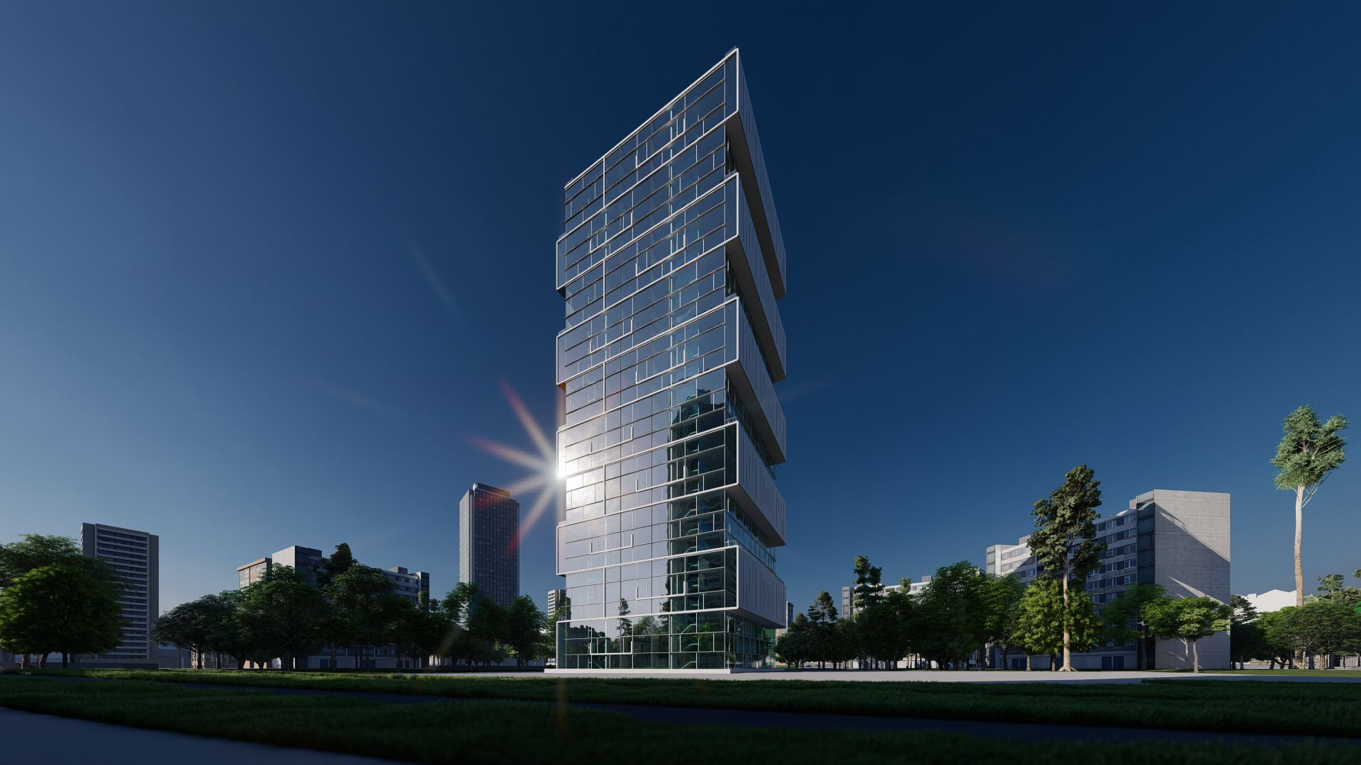 arhitektuurne 3d pilt hoone visualiseerimine 163