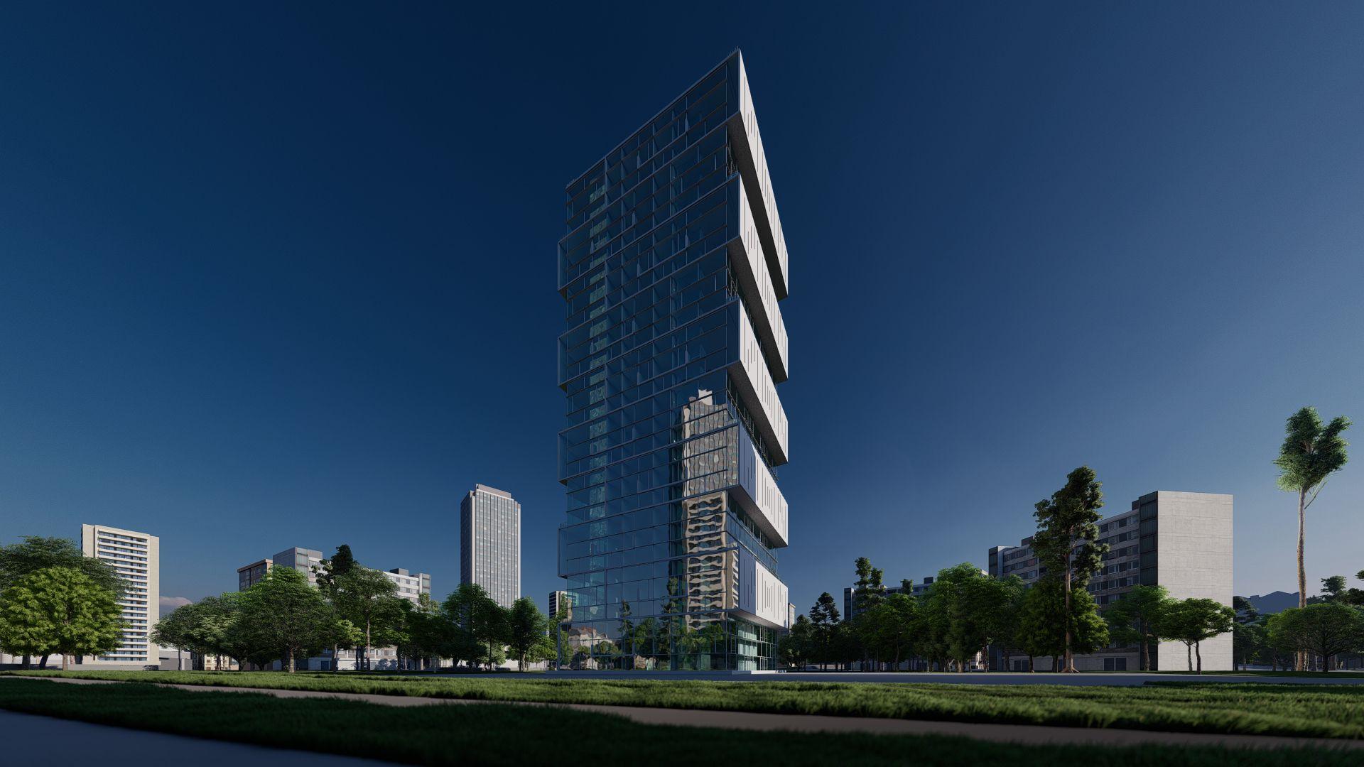 arhitektuurne 3d pilt hoone visualiseerimine 164