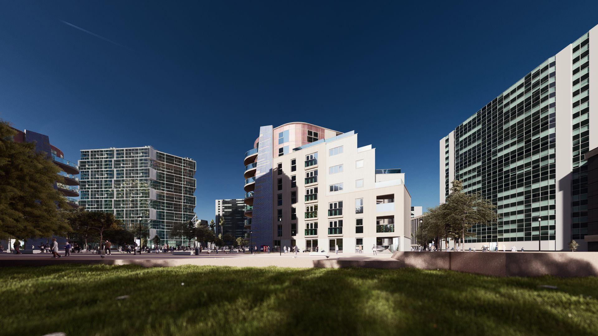 arhitektuurne 3d visualiseerimine hoone plokk 10