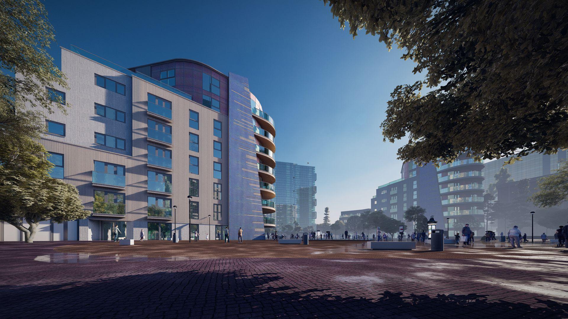 arhitektuurne 3d visualiseerimine hoone plokk 14