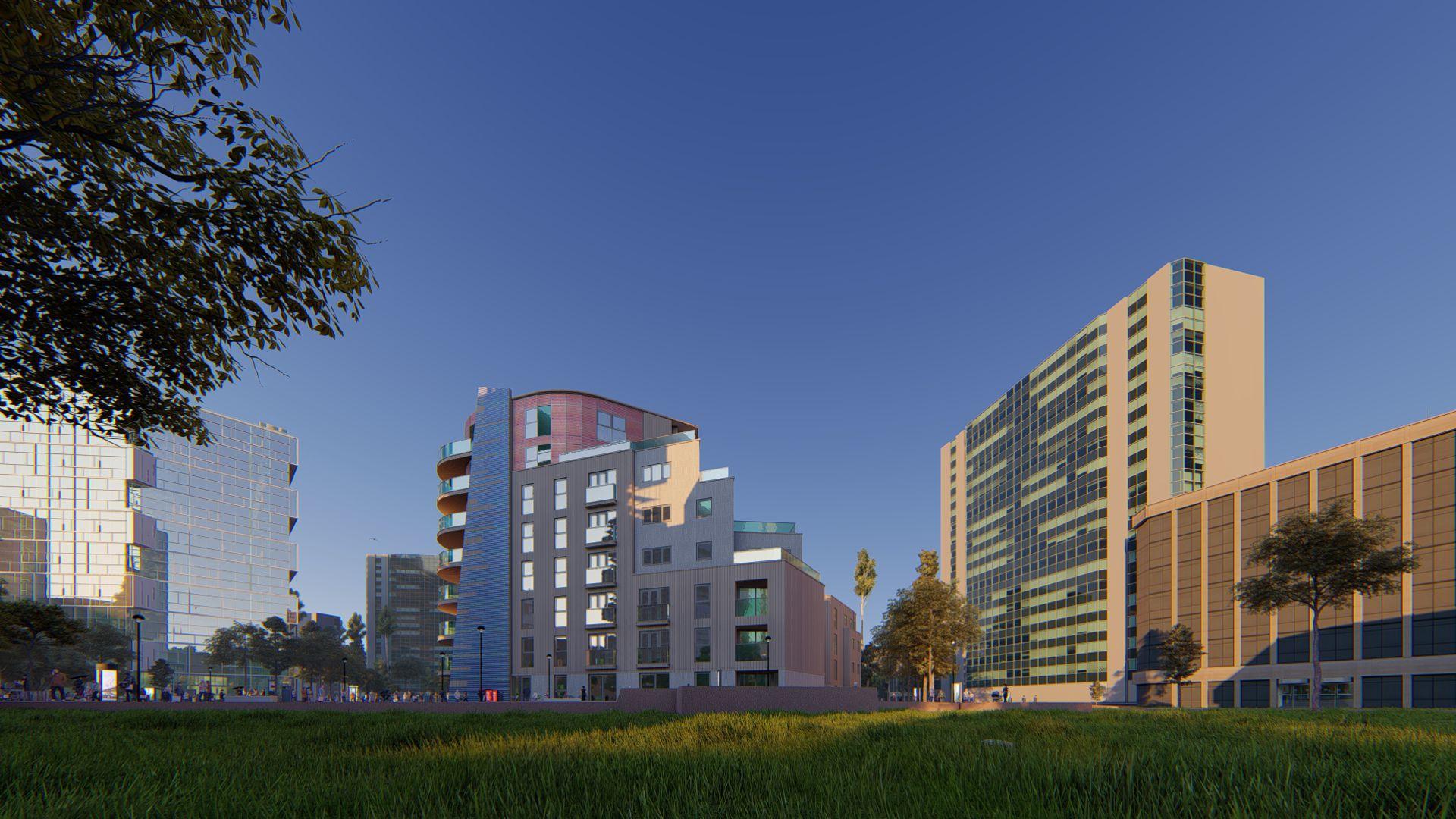 arhitektuurne 3d visualiseerimine hoone plokk 17