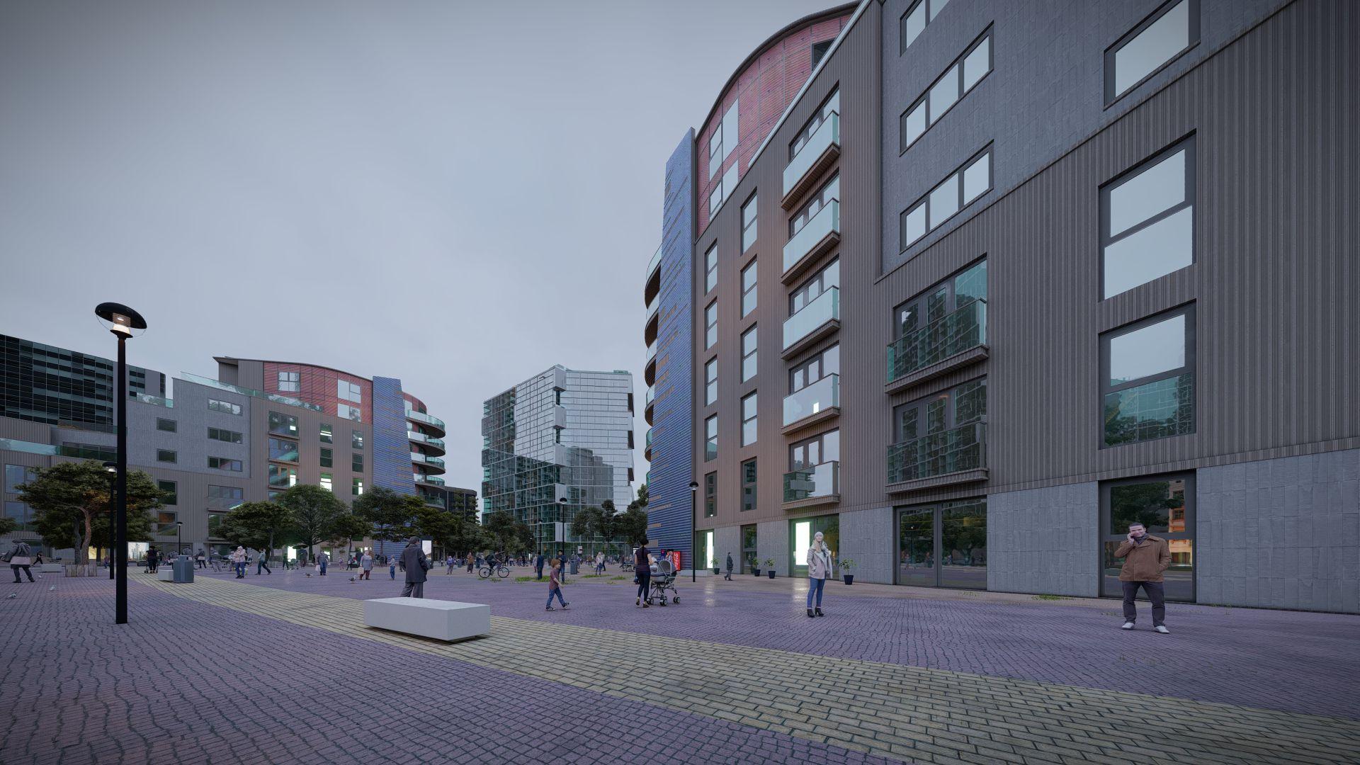 arhitektuurne 3d visualiseerimine hoone plokk 18