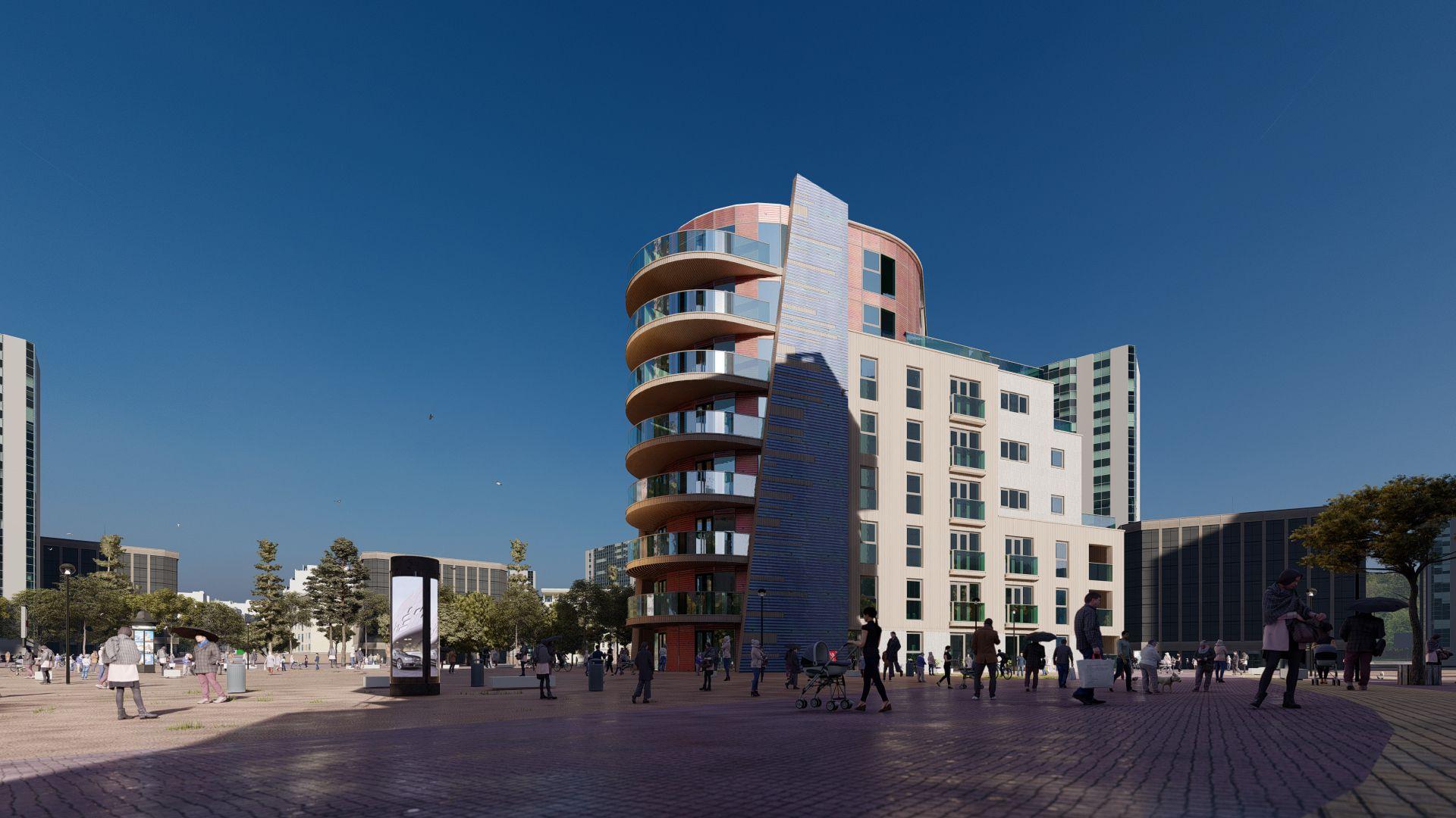 arhitektuurne 3d visualiseerimine hoone plokk 20