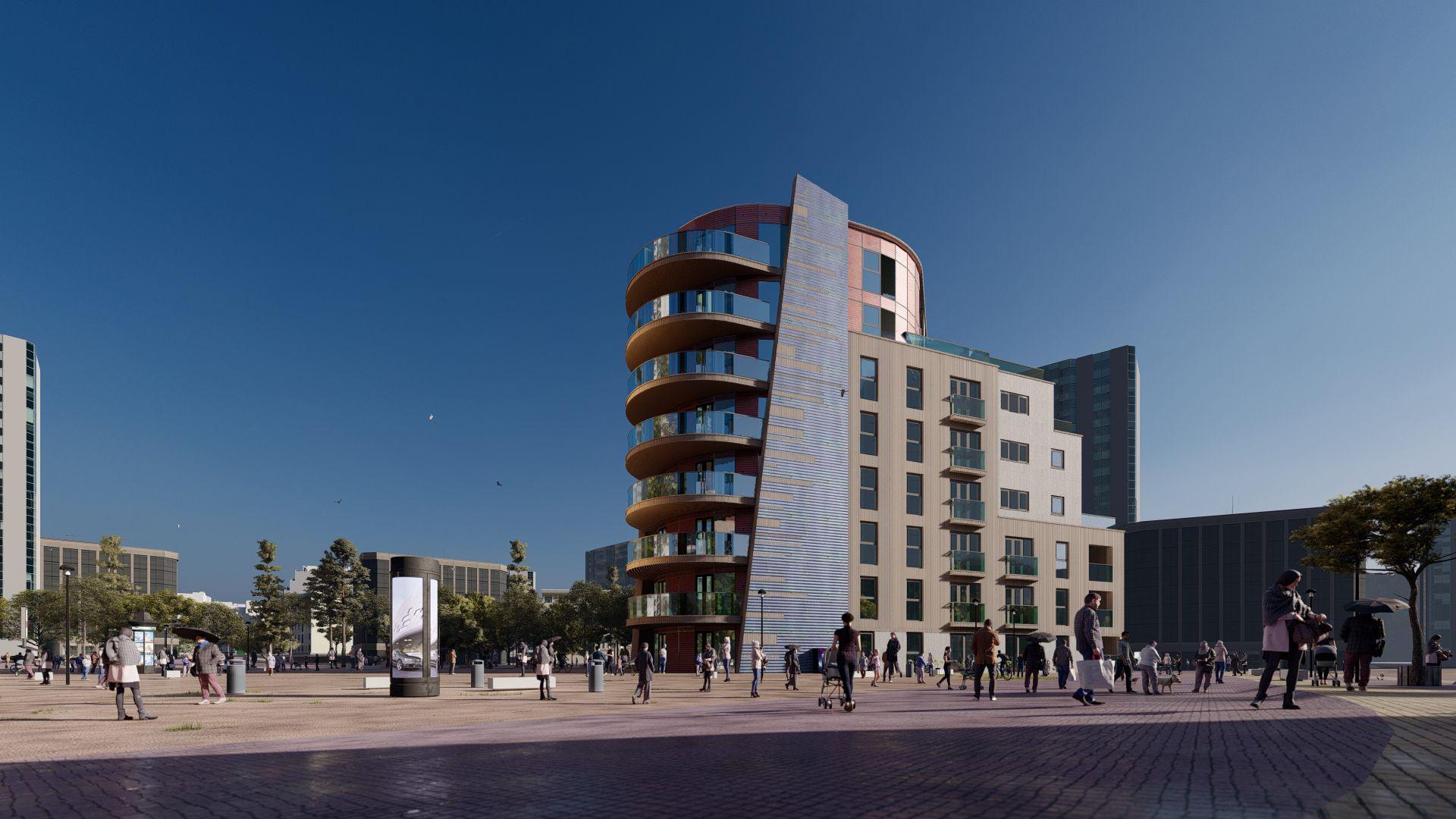arhitektuurne 3d visualiseerimine hoone plokk 21