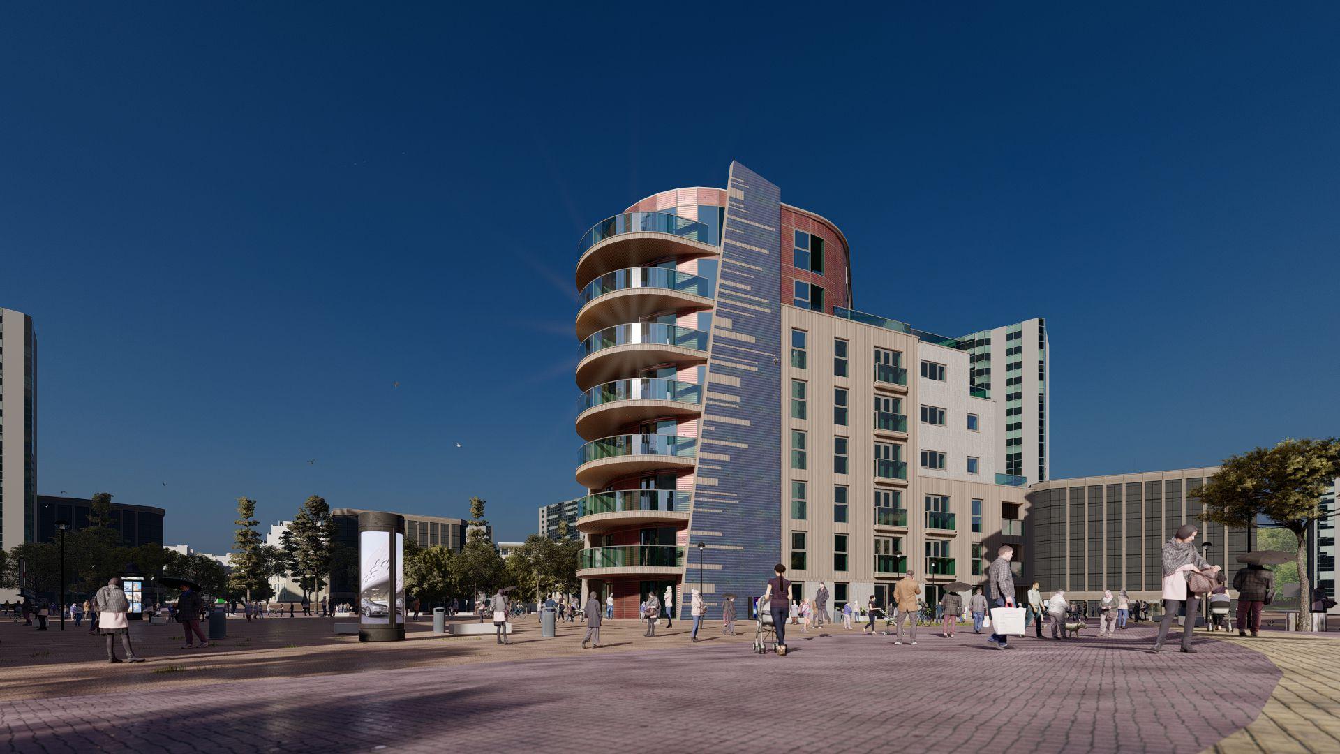 arhitektuurne 3d visualiseerimine hoone plokk 22