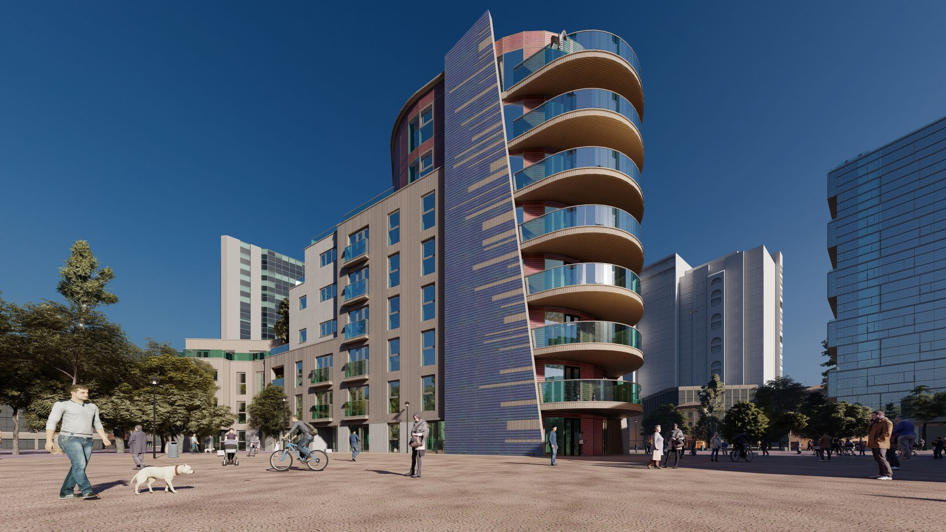 arhitektuurne 3d visualiseerimine hoone plokk 25