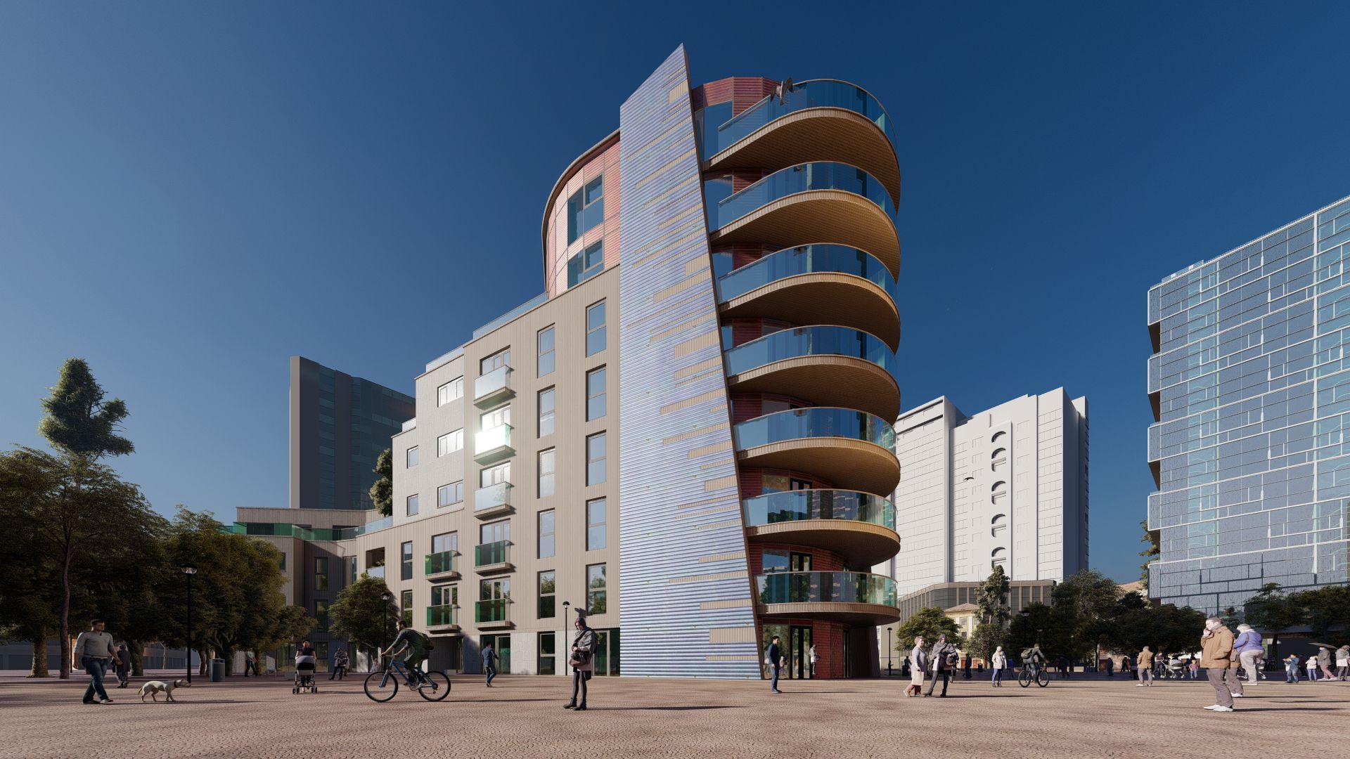 arhitektuurne 3d visualiseerimine hoone plokk 26
