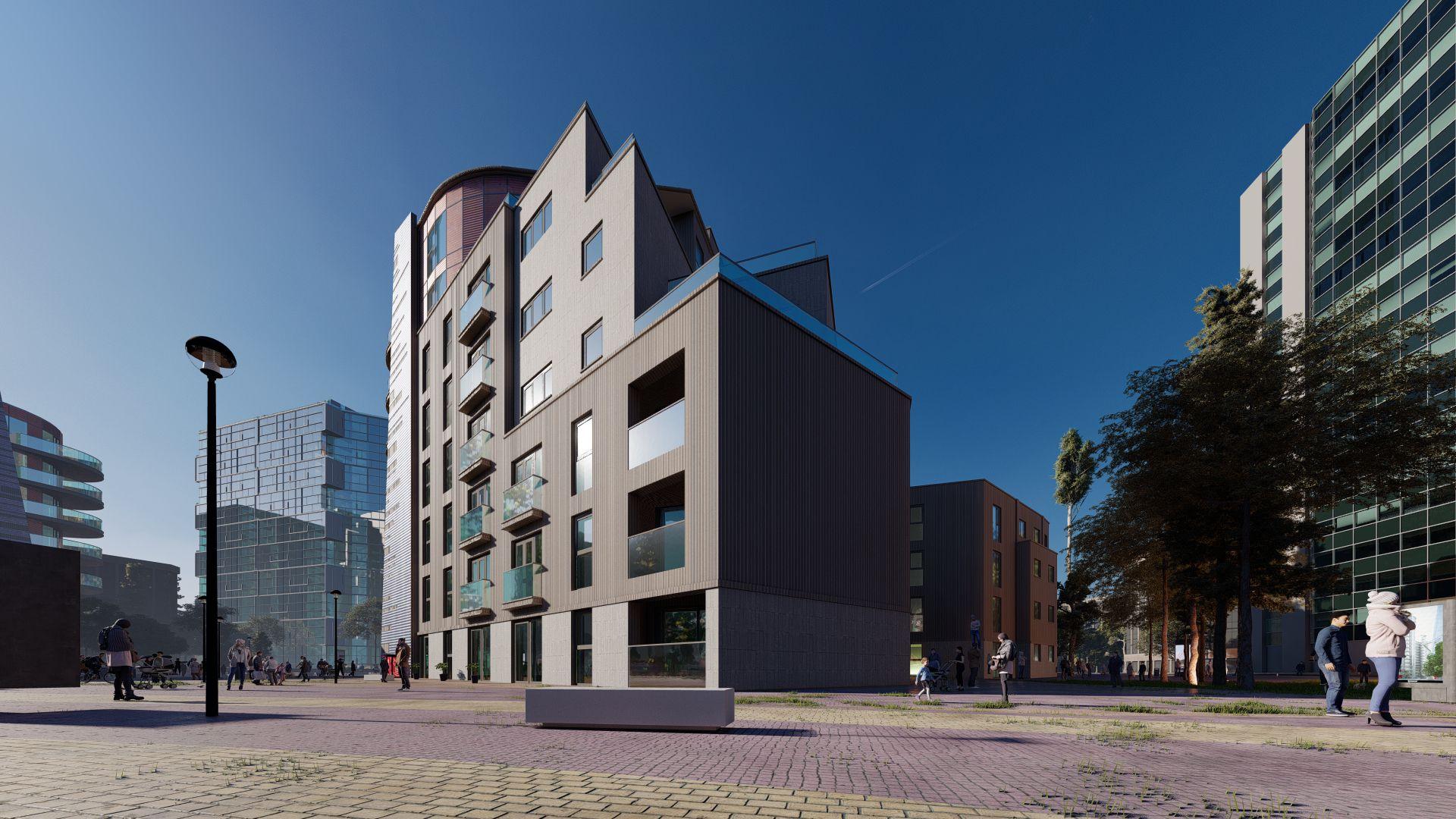 arhitektuurne 3d visualiseerimine hoone plokk 28