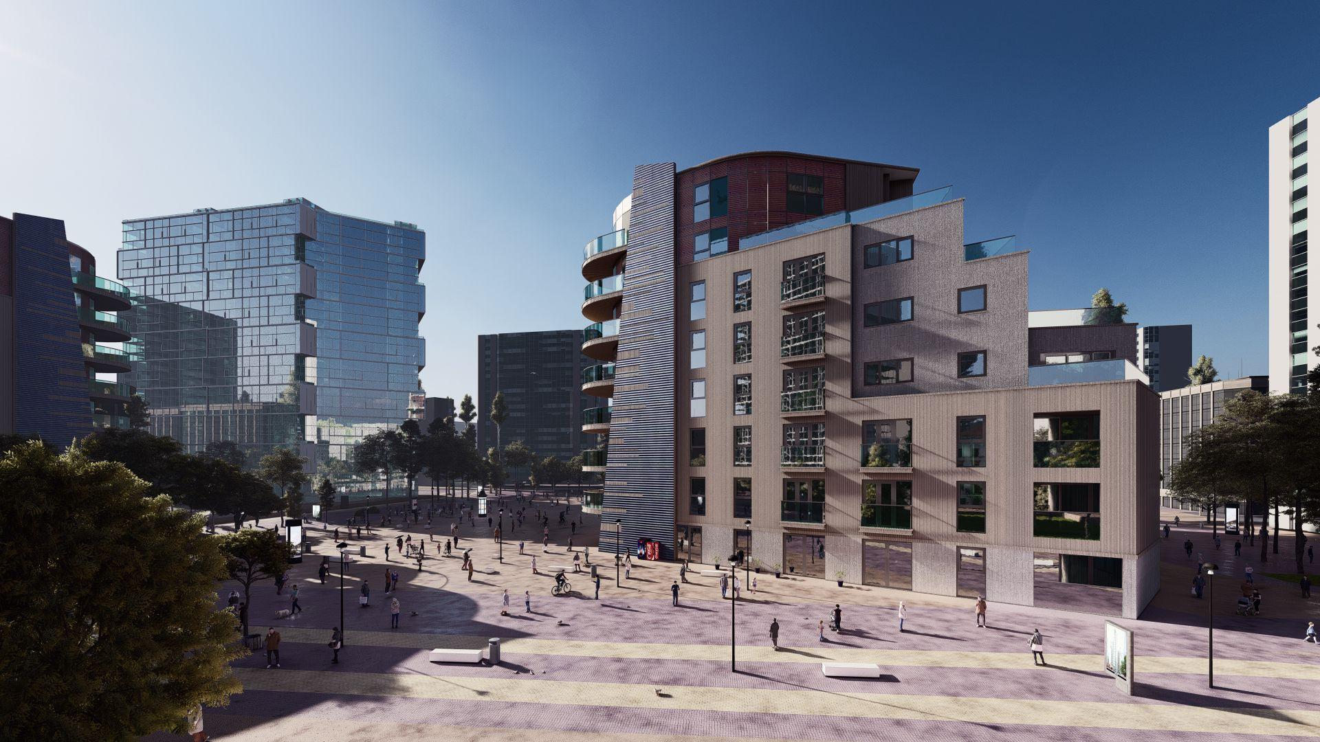 arhitektuurne 3d visualiseerimine hoone plokk 6
