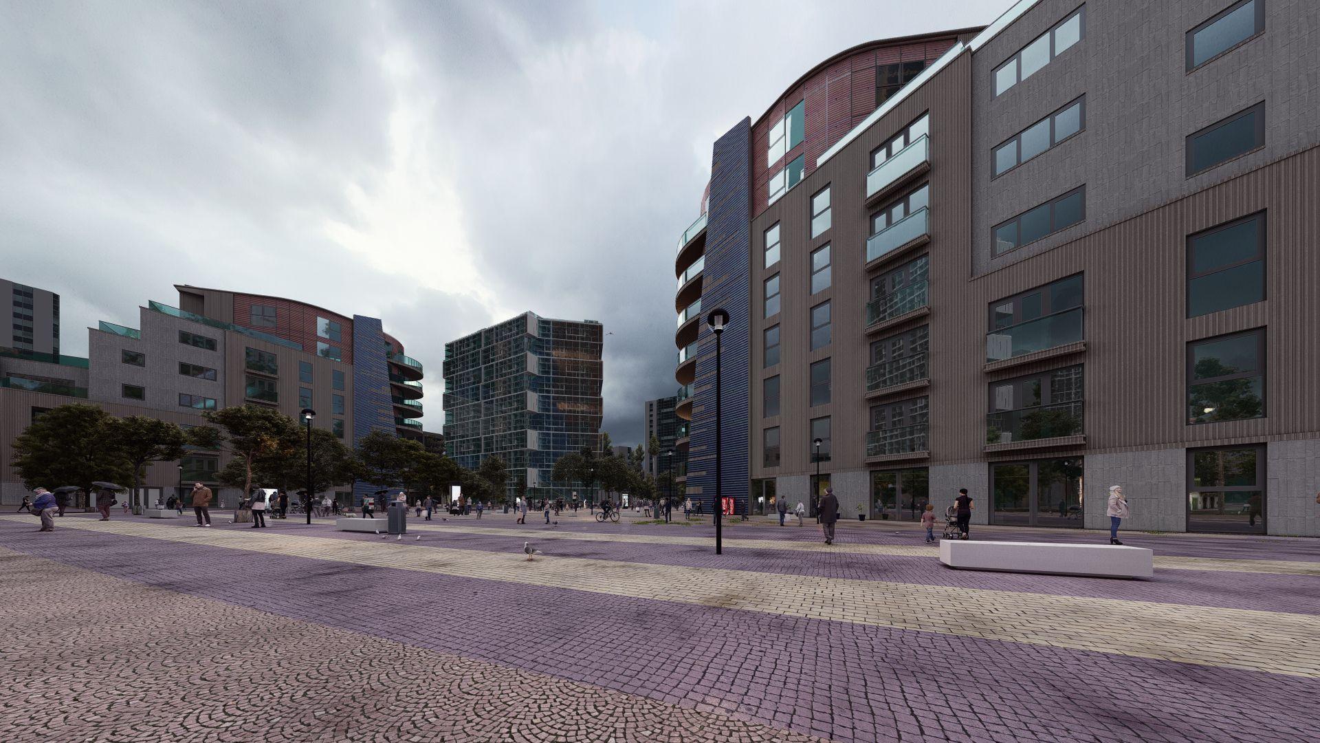 arhitektuurne 3d visualiseerimine hoone plokk 8