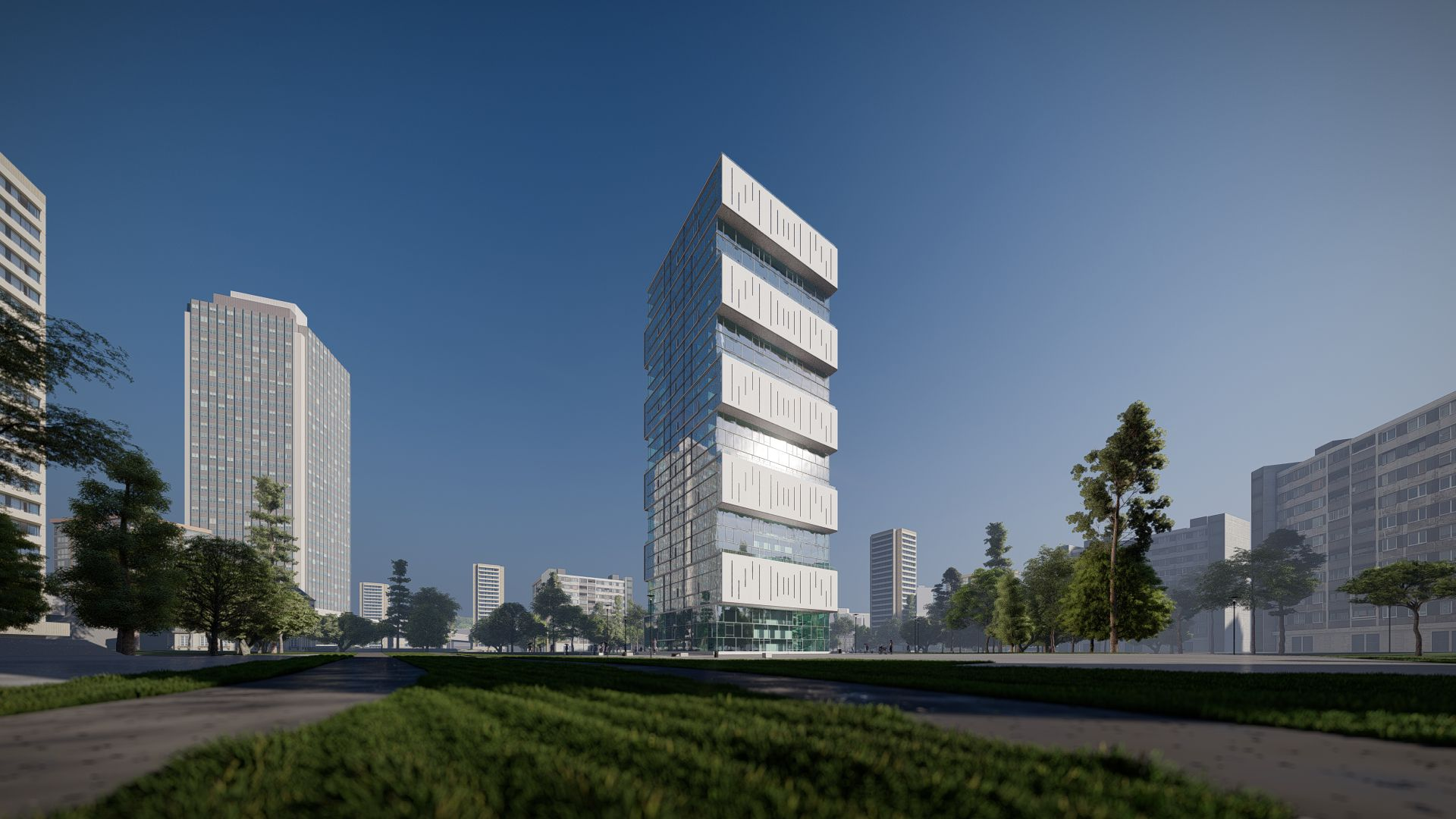 arhitektuurne 3d visualiseerimine pilve hoone 2 20