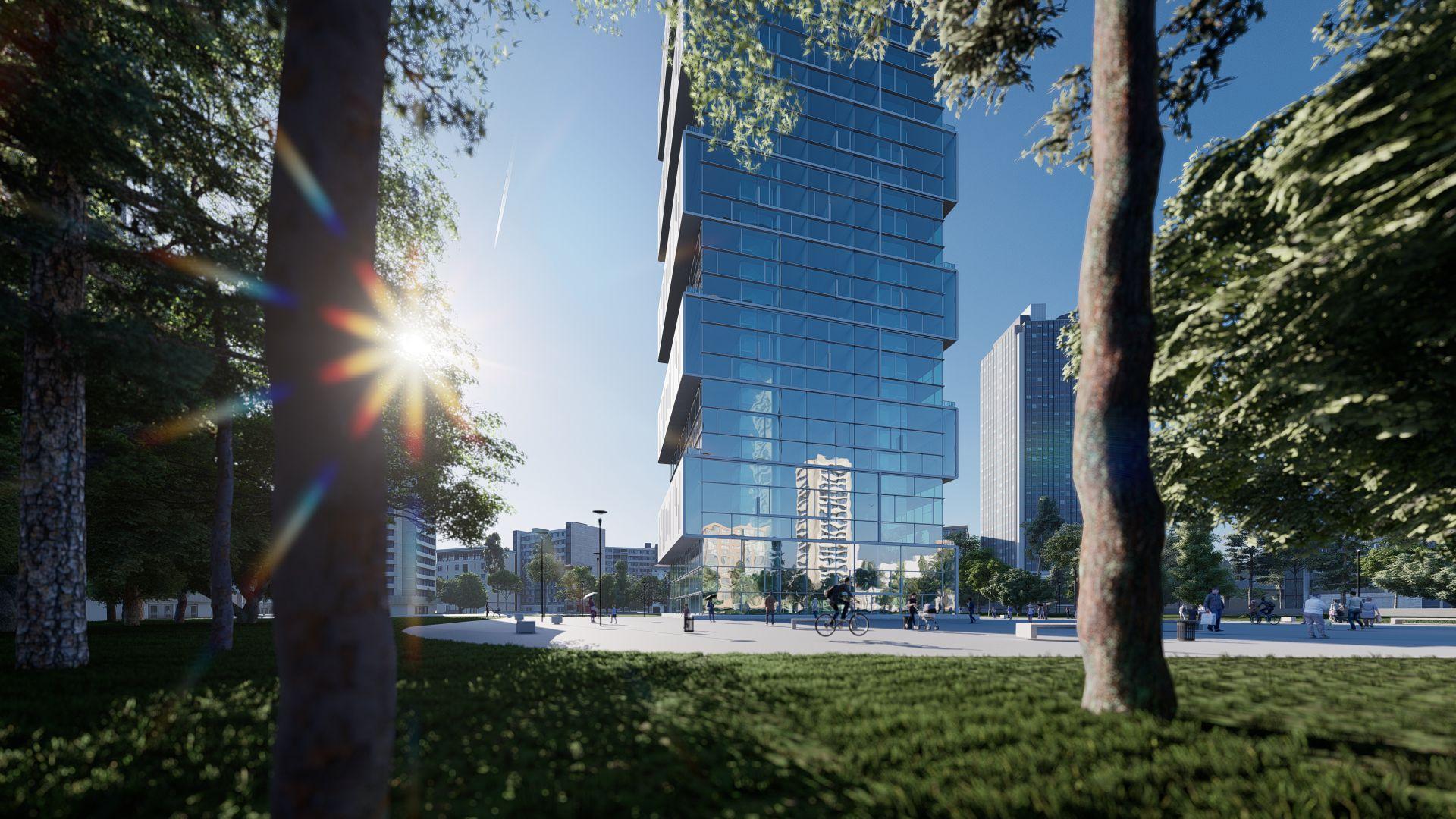 arhitektuurne 3d visualiseerimine pilve hoone 26