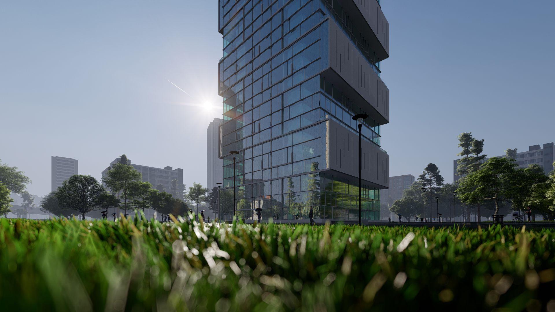 arhitektuurne 3d visualiseerimine pilve hoone 3 9