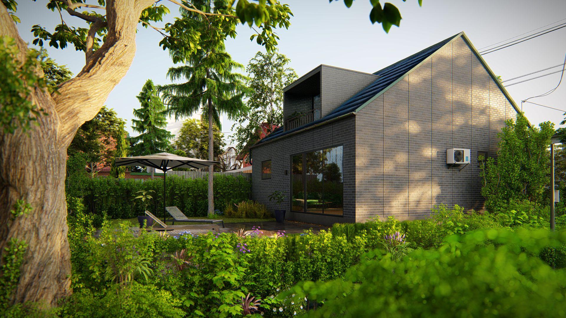 Eramaja 3d animatsioon hoone renoveerimine 3d pilt